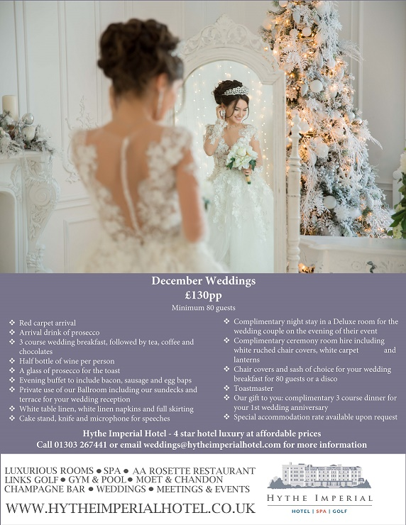December Wedding Offer at Hythe Imperial