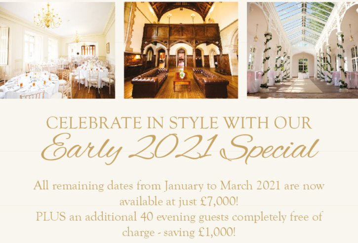 Celebrate in Style with our Early 2021 Special Offer at St Audries Park!