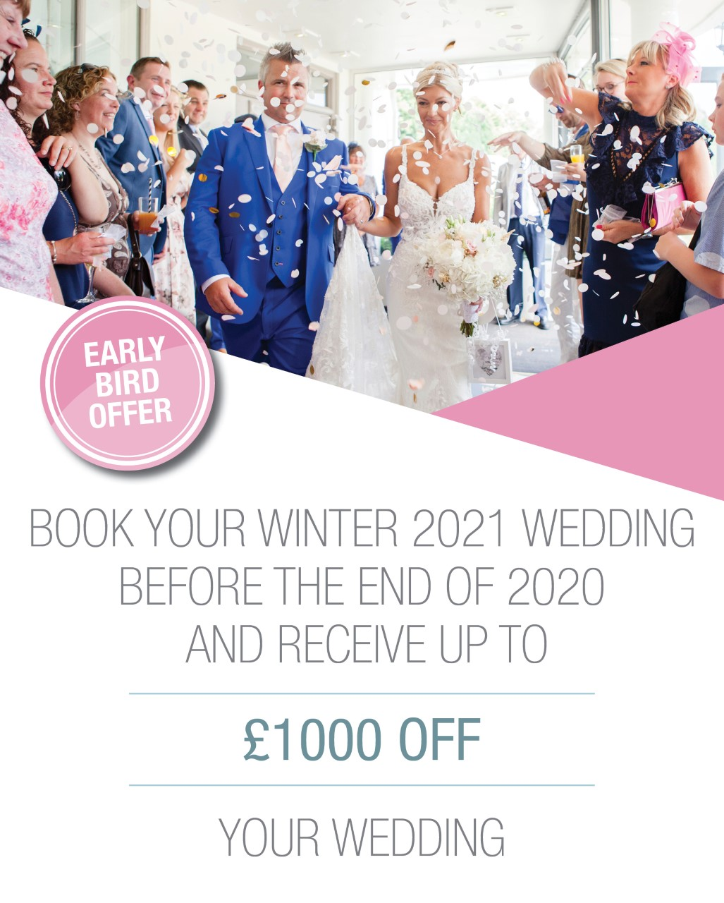 Early Bird Winter Wedding Offer at Southdowns Manor