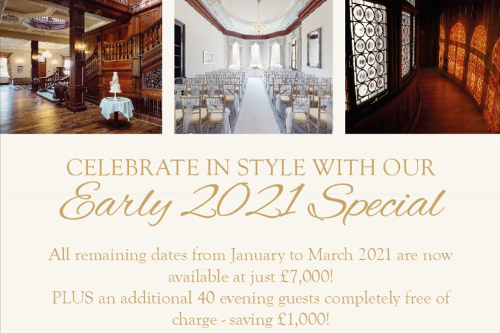 Celebrate in Style with our Early 2021 Special Offer at Bourton Hall!