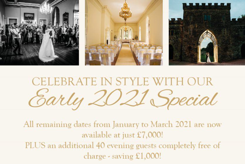 Celebrate in Style with this Early 2021 Special Offer at Clearwell Castle!!