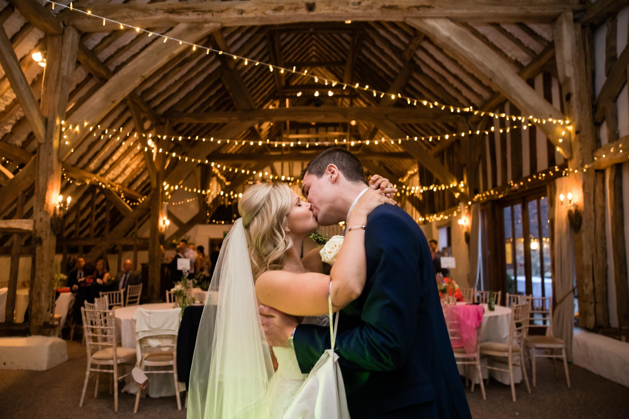 The large, spacious barn at Fitzleroi is perfect for ceremonies, the wedding breakfast and evening entertainment