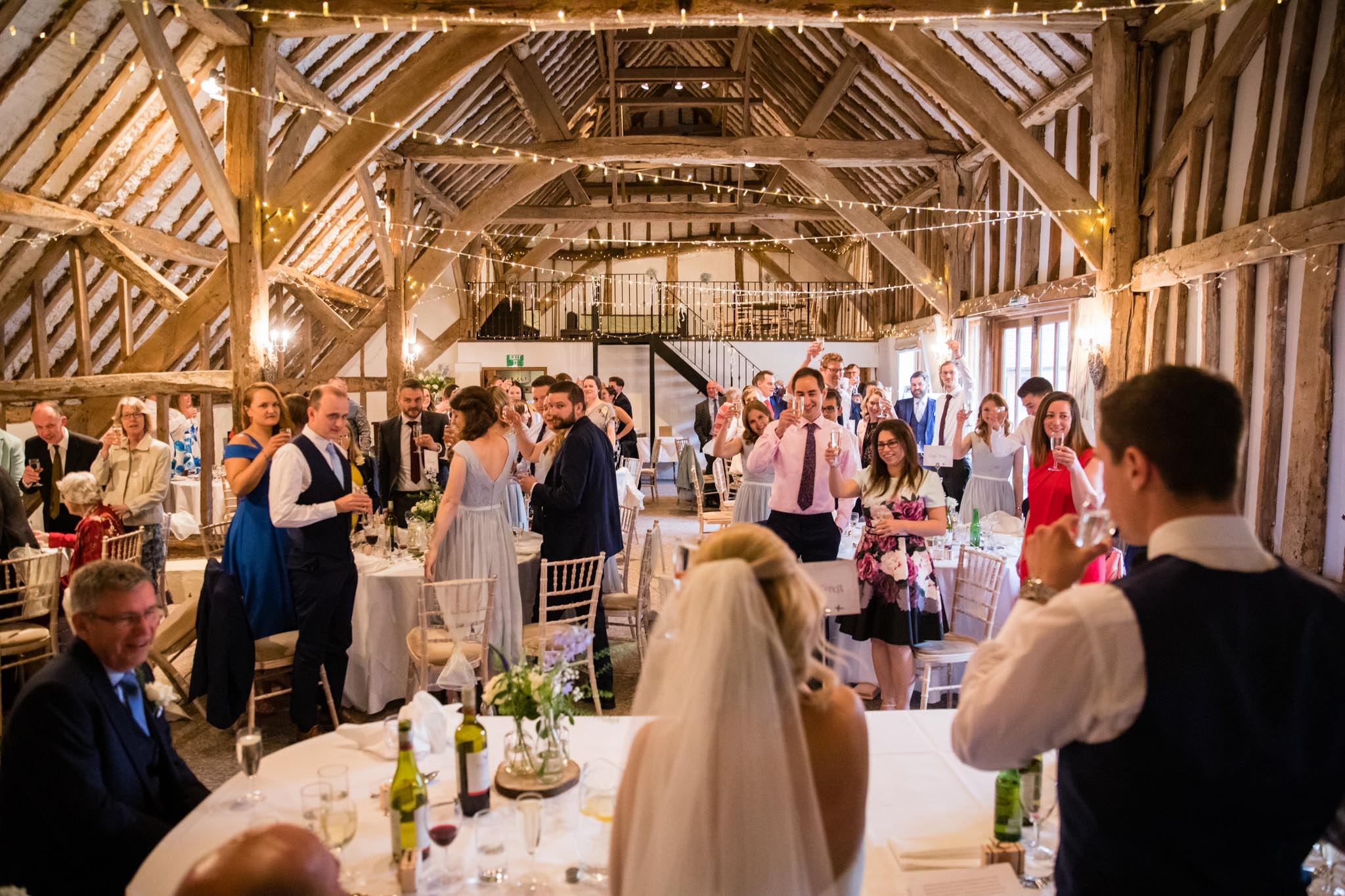 The Main Barn is beautifully light and airy despite being over 400 years old and will comfortably seat over 100 guests.