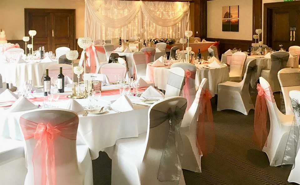 The Clubsuite set for a wonderful Wedding Breakfast.