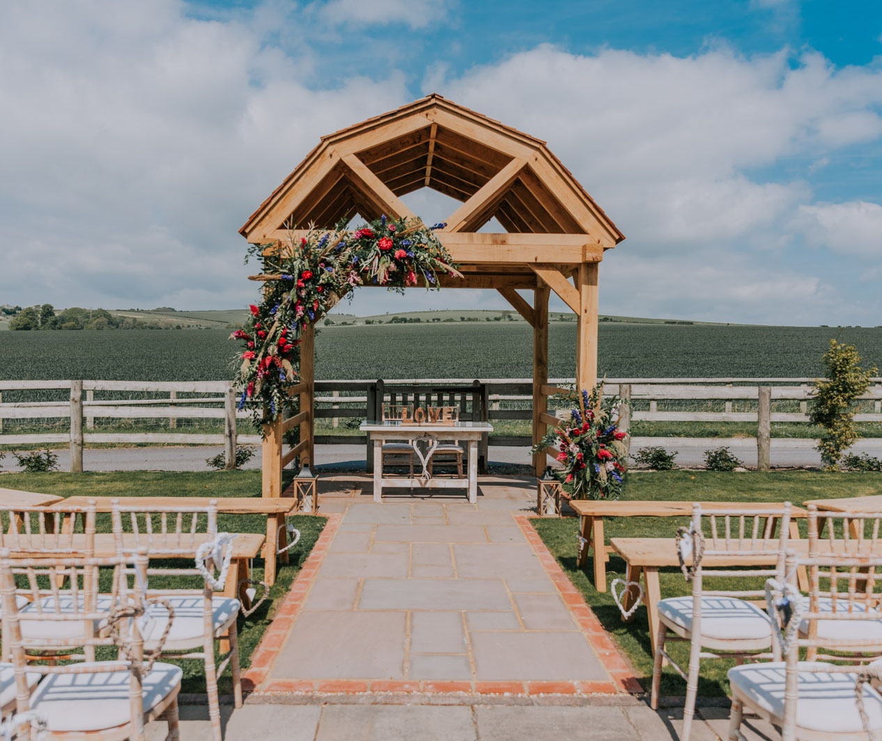 The Furlong View.  Outdoor weddings