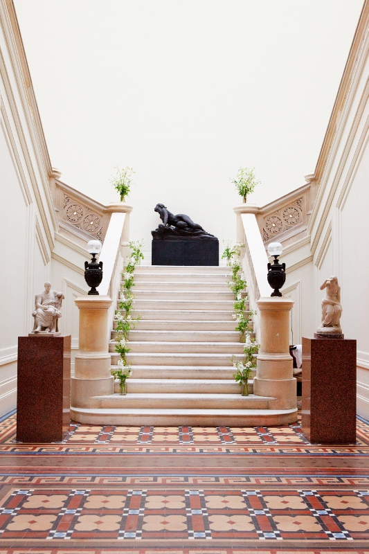 The marble stairs