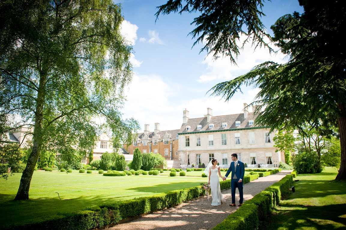 Bride and Groom in Grounds and Gardens.