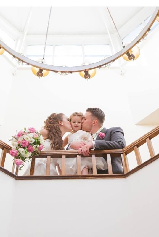 A lovely photo opportunity on the hotel's balcony.