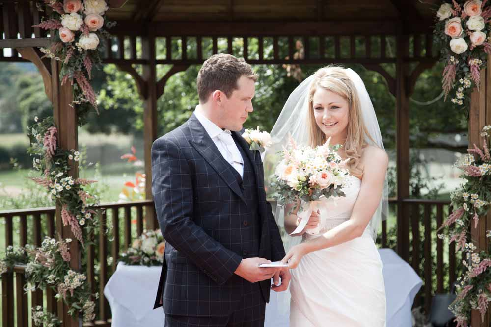 Wedding in Garden Gazebo