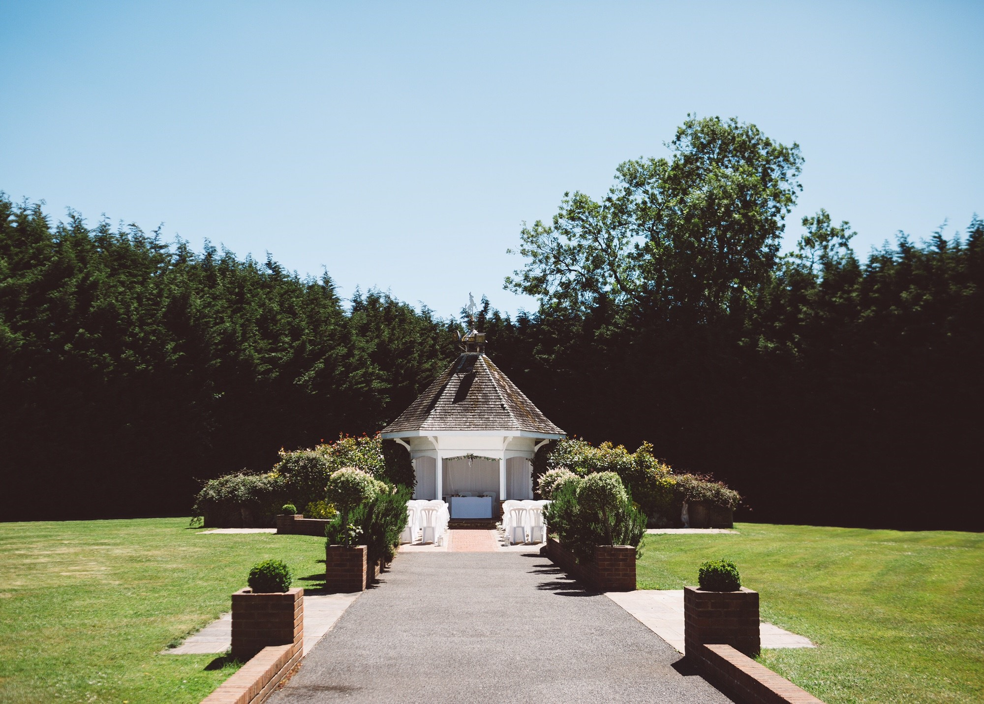 Wedding lawns at The Hop Farm