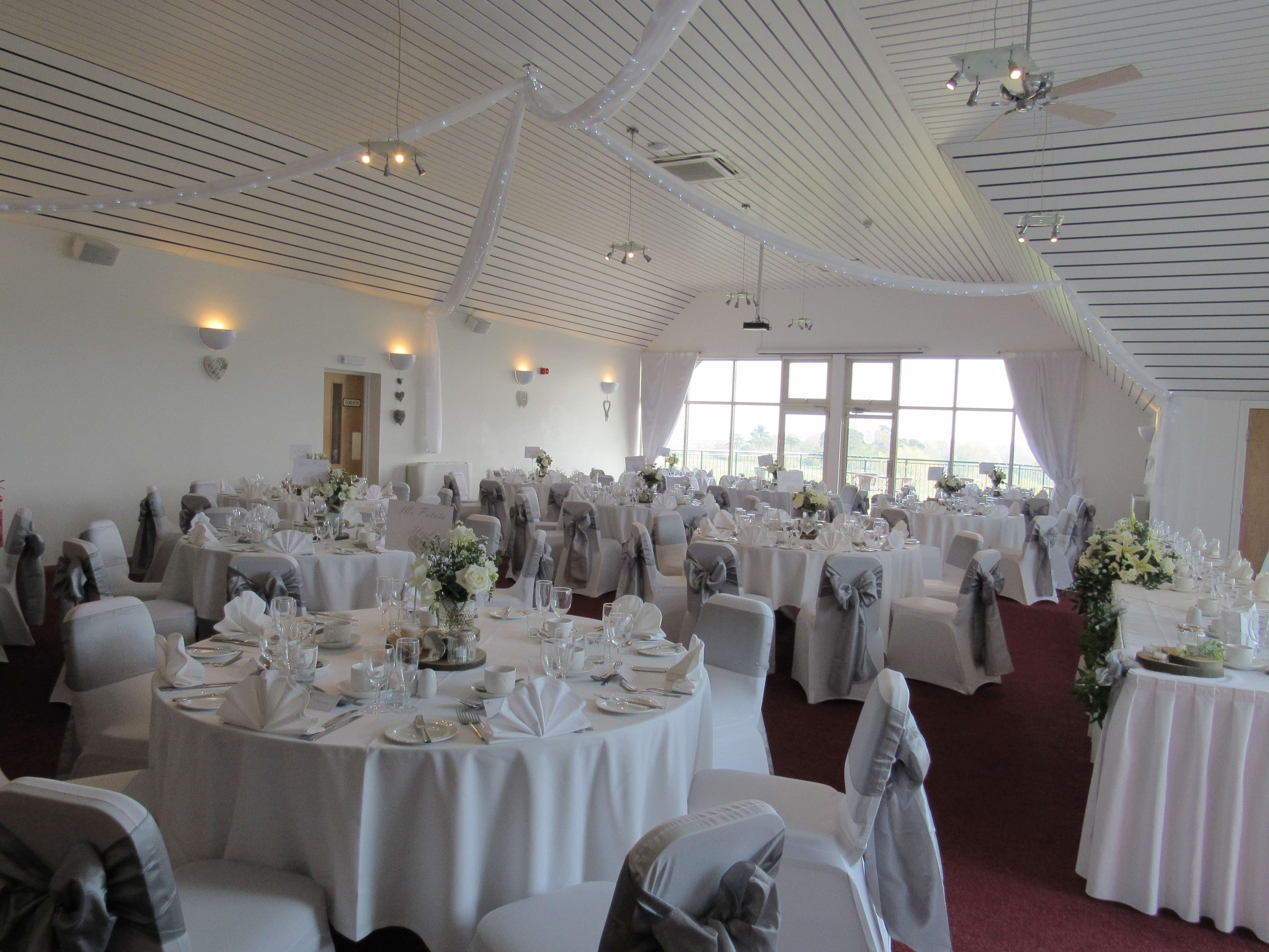 Our Deben Suite dressed for a wedding breakfast.
