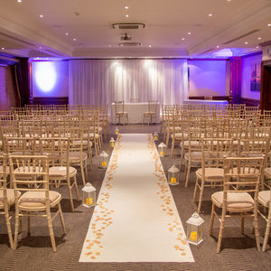 Elegant setting for a beautiful ceremony.