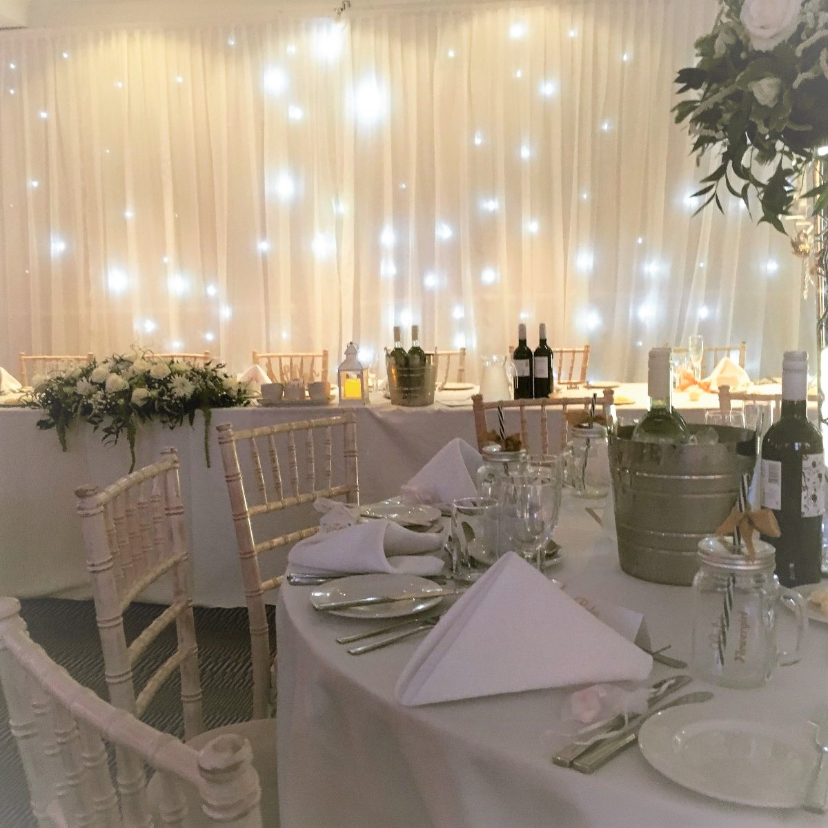 Creating a romantic atmosphere for your special day.