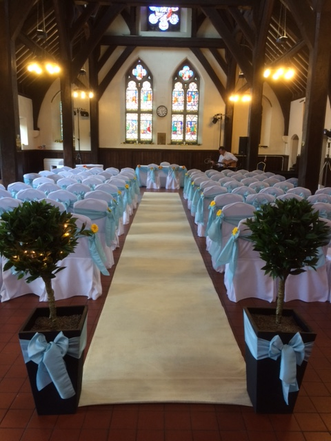 The Dining Hall set up for a ceremony