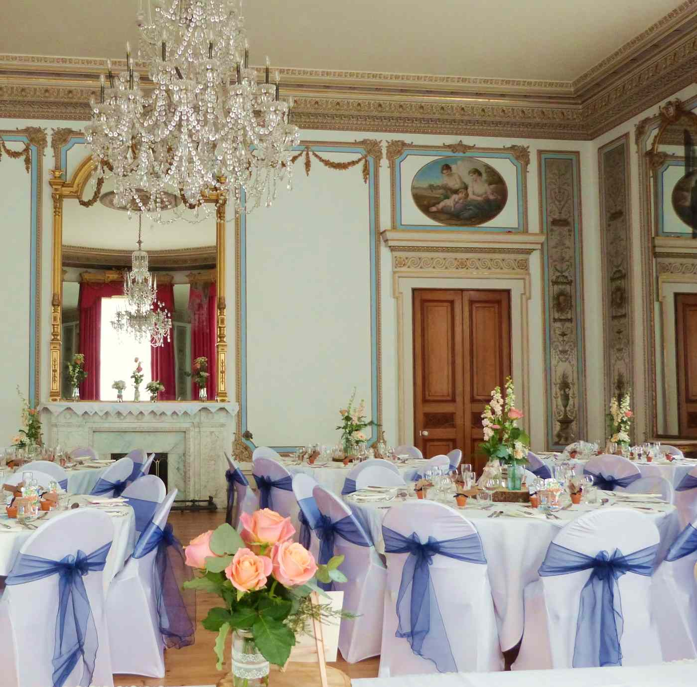 The Adam style Drawing room set for the wedding breakfast