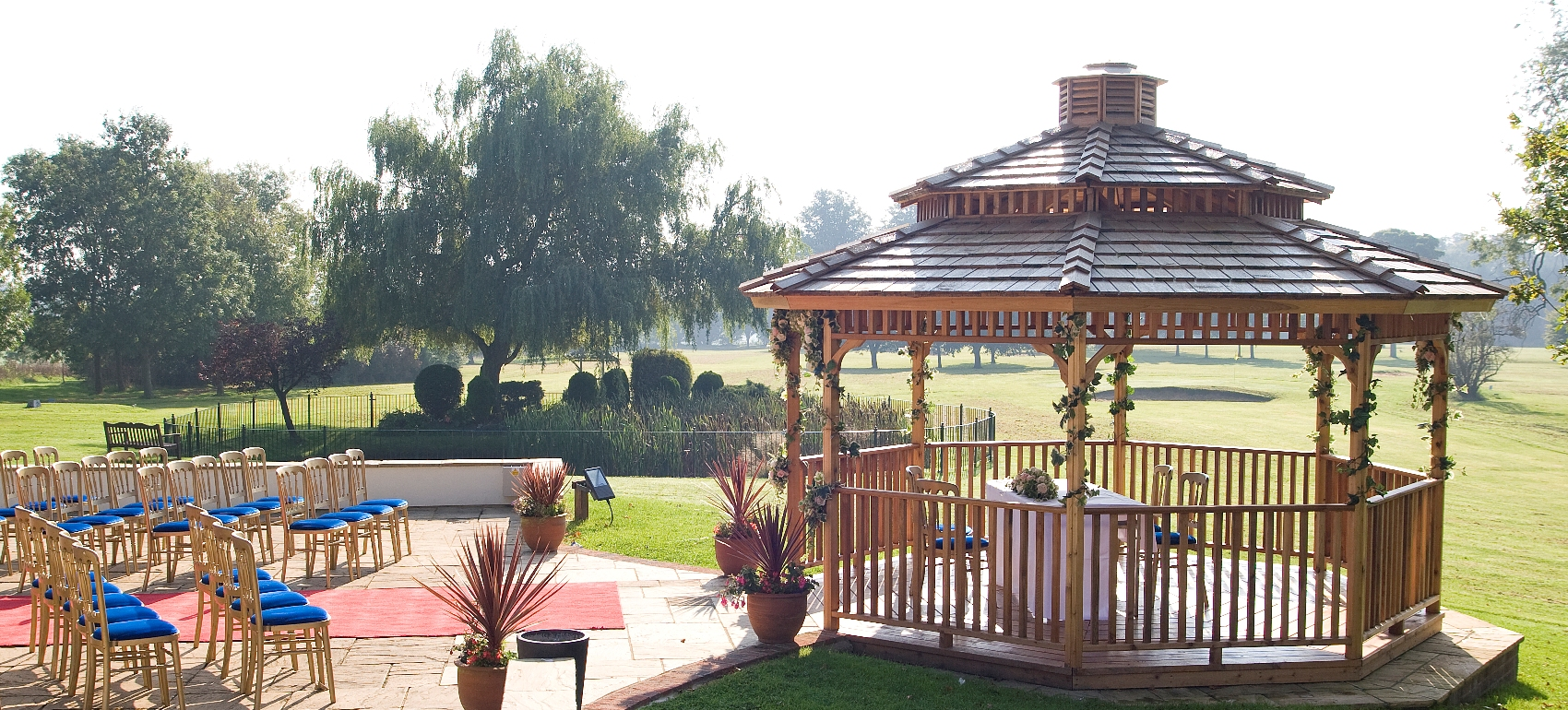 The Garden Gazebo for outdoor ceremonies