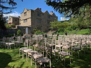 Outdoor Wedding Ceremony at Eyam Hall, Derbyshire