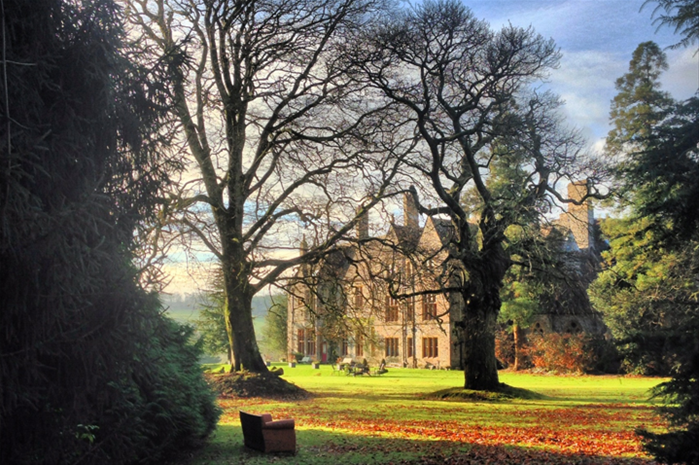 Huntsham Court in Autumn