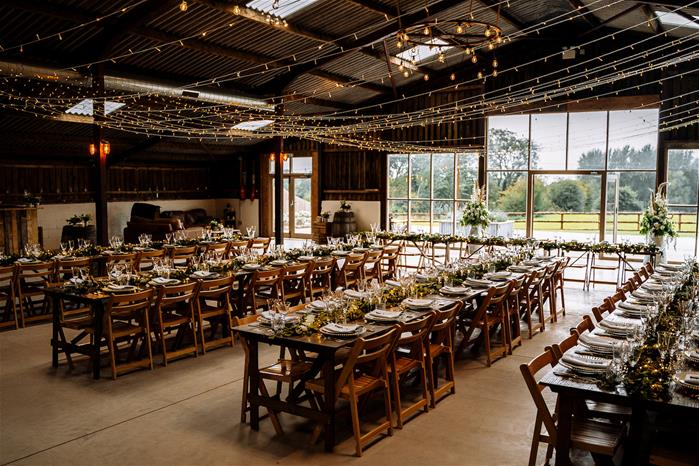 Rustic and Relaxed Cheshire Wedding Barn